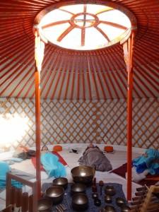 Diepe ontspanning in de yurt